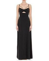 L'Agence Multi Strap Elsa Maxi Dress Black