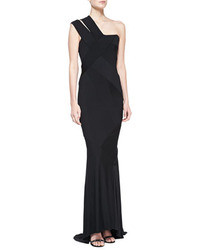 Donna Karan One Shoulder Banded Gown