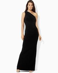 Ralph Lauren Lauren Sleeveless One Shoulder Gown
