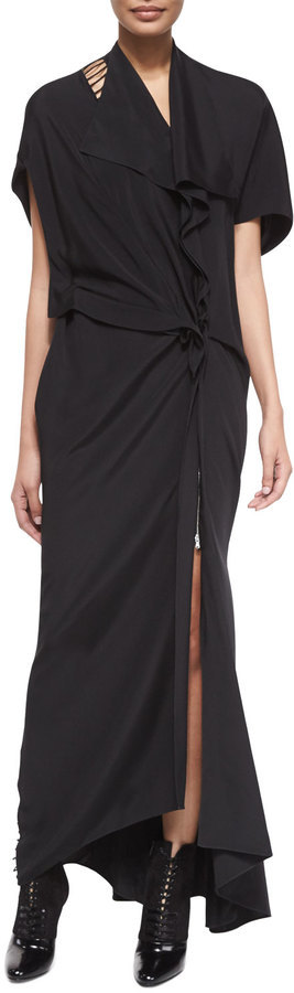 3.1 Phillip Lim Silk Ladder Back Embroidered Gown | Where to buy ...