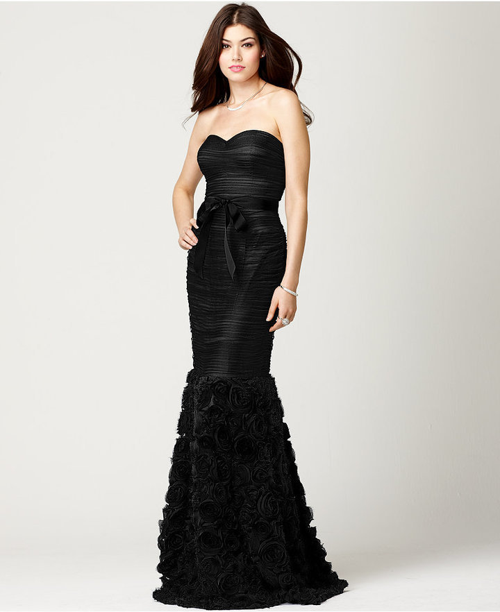 JS Collections Strapless Belted Mermaid Gown | Where to buy & how to ...