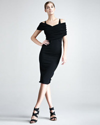 Donna Karan Stretch Cashmere Dress Black