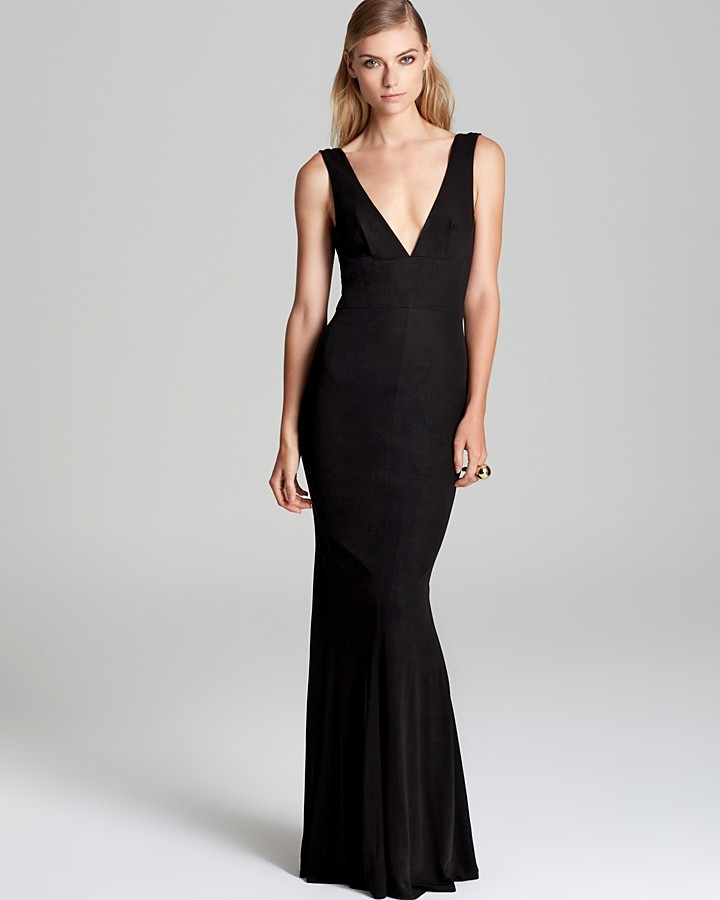 ABS by Allen Schwartz V Neck Gown | Where to buy & how to wear