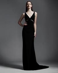 Stella Mccartney Velvet Cutout Contrast Trim Gown Where To Buy