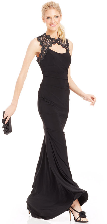 Xscape Evenings Xscape Glitter Lace Cutout Mermaid Gown | Where to ...