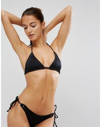 Asos Mix And Match Triangle Bikini Top With Double Strap And Eyelets