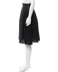 Marc Jacobs Eyelet Patterned A Line Skirt
