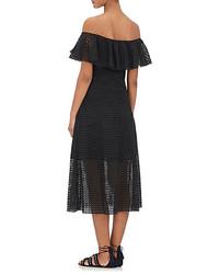 Philosophy Di Lorenzo Serafini Cotton Eyelet Midi Skirt