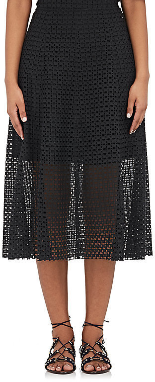 Philosophy Di Lorenzo Serafini Cotton Eyelet Midi Skirt