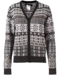 Anrealage fair isle knit cardigan medium 124392