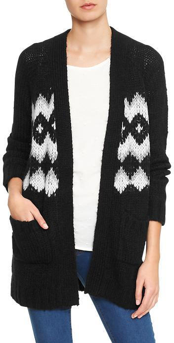 Gap Factory Fair Isle Open Front Cardigan   Where to buy & how to wear