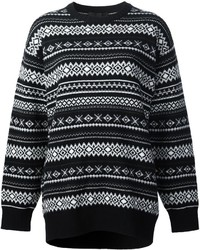 Alexander wang fair isle knit jumper medium 1101333