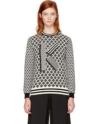 Black ivory fairisle k sweater medium 4392489