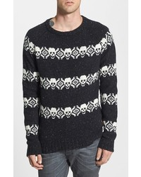 Men's Black Fair Isle Crew-neck Sweaters from Nordstrom | Men's ...