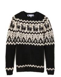 Industry of all nations alpaca hand knit sweater medium 123137
