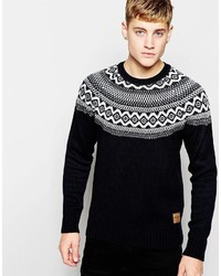 Black Fair Isle Sweaters for Men | Men's Fashion