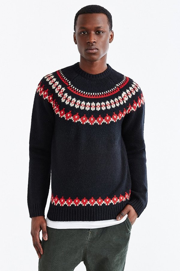 UO Native Youth Knit Fair Isle Crew Neck Sweater   Where to buy ...