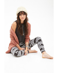 Fair isle deer pattern leggings medium 123976