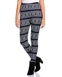 Angie Fair Isle Print Sweater Leggings