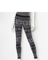 Vera Wang Princess Fair Isle Seamless Leggings Juniors