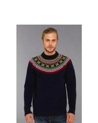 How to Wear a Black Fair Isle Sweater (5 looks) | Men's Fashion