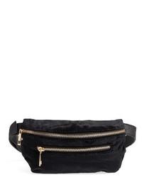 Amici Accessories Velvet Belt Bag Black