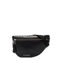 Alexander McQueen Black Logo Leather Belt Bag