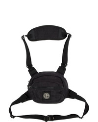 Stone Island Black Reflective Weave Bum Bag