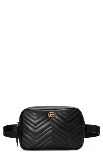 1981a08e7e0 Gucci Gg Marmont 20 Matele Convertible Leather Belt Bag 1 100