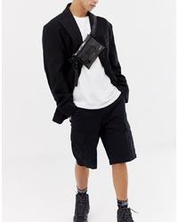 HXTN Supply Transparent Cross Body Bum Bag In Black