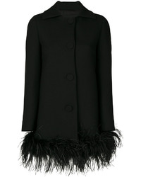 Boutique feather trim coat medium 5375517