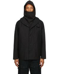 Engineered Garments Black Cotton Shawl Neck Jacket