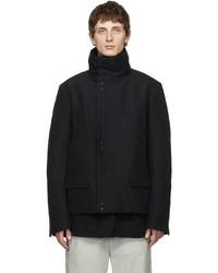 The Viridi-anne Black Moleskin High Neck Jacket