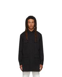 Random Identities Black Saharienne Shirt Jacket
