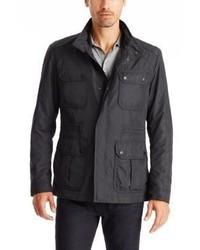 Hugo Boss Cavid Field Jacket Concealed Hood 40r Black