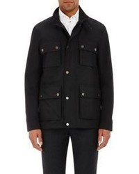 Cifonelli Tech Fabric Field Jacket Black