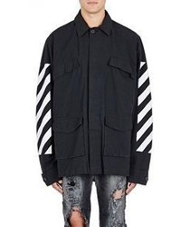 Off-White Co Virgil Abloh Ripstop Field Jacket Black