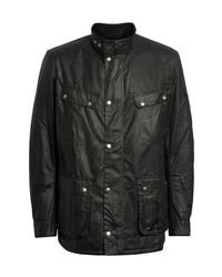 Barbour Duke Regular Fit Waterproof Waxed Cotton Jacket
