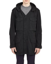 Maison Margiela Hooded Field Jacket Black