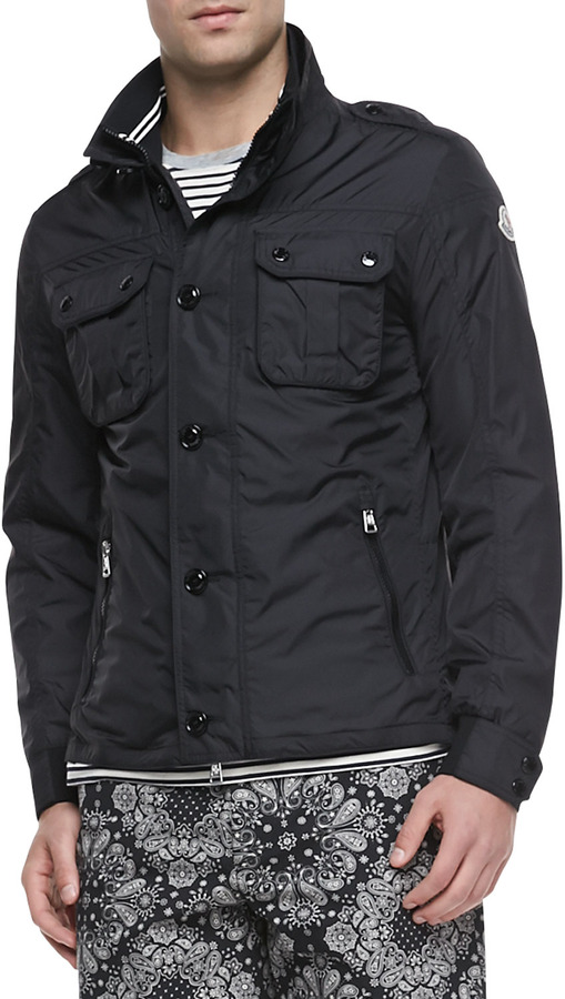 ... Moncler Mate Nylon Field Jacket Black ...