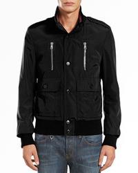 Gucci Padded Iconic Bomber Jacket Black
