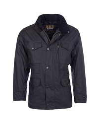 Barbour Sapper Regular Fit Waterproof Waxed Cotton Jacket