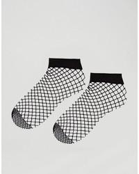 Asos 2 Pack Oversized Fishnet Ankle Socks