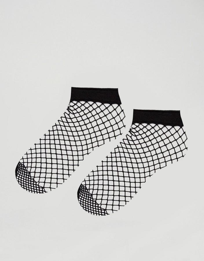 d92c32e8a8759 Asos 2 Pack Oversized Fishnet Ankle Socks, $7 | Asos | Lookastic.com