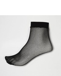 River Island Black Fishnet Ankle Socks