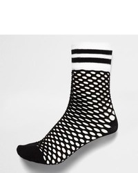 River Island Black Sporty Fishnet Socks