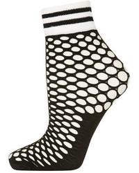 Sporty Trim Fishnet Socks