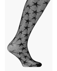 Boohoo Ebony Star Design Fishnet Tights