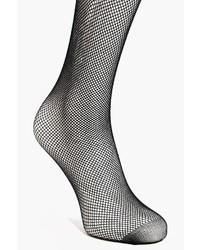 Boohoo Maya Micro Fishnet Tights With Back Seam
