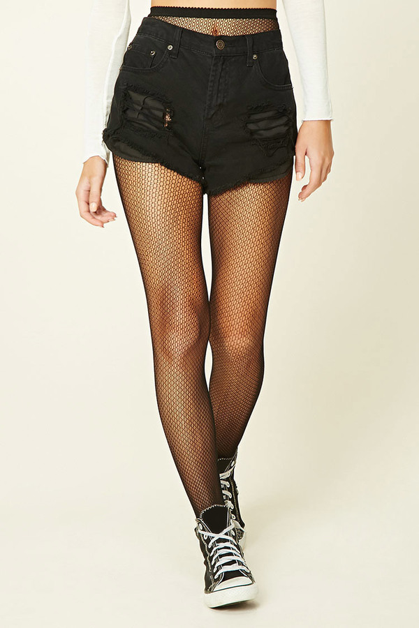 1693ce0de0c18 Forever 21 Ornate Fishnet Tights, $6 | Forever 21 | Lookastic.com